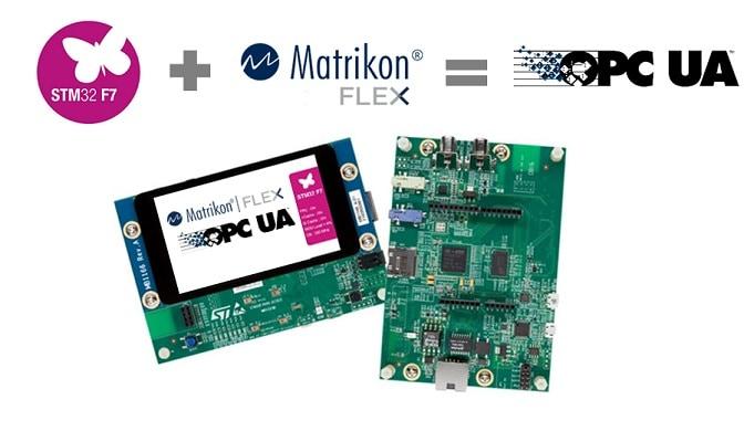 Easy Matrikon FLEX Based OPC UA Demo for STM 32 Discovery