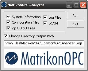Fix DCOM errors and problems with MatrikonOPC's Analyze
