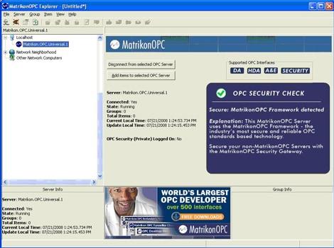 Free OPC client for testing OPC DA and A&E – MatrikonOPC